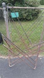 Iron, mid century patio chairs