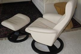 European recliner and foot stool.