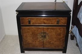 One of two matching nightstands made by Century.