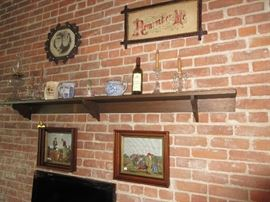 "Long Shelf - Antique ""Remember Me"" picture"