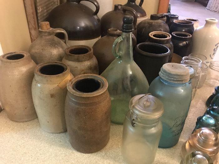 Assorted vintage jugs