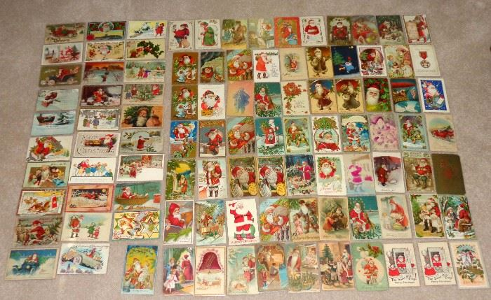 EARLY 1900'S  SANTA CLAUS POSTCARDS