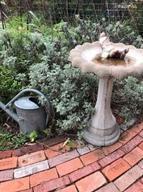 Cement Bird Bath (Please read the terms and conditions regarding our sales) Set up and Photo by BC