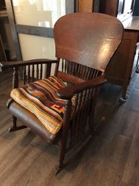 Antique oak rocket, circa 1900.  (Please read the terms and conditions regarding our sales) Set up and Photo by BC