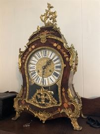 Franz Hermi Mantle French Boulle  Style clock.  (Please read the terms and conditions regarding our sales) Set up and Photo by BC