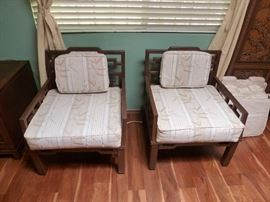 2 of 4 matching Asian style chairs