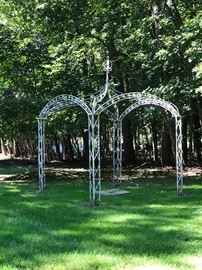 Large Painted Gazebo ( metal)