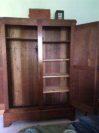 Antique Walnut Wardrobe open