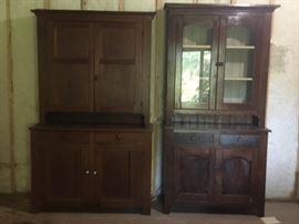 Walnut and Oak Cupboard