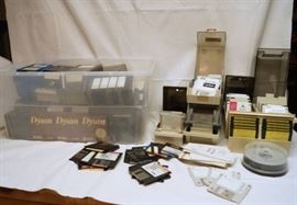 Big lot of floppy disks and storage casessee phot ...