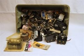 Big tub of electronic components