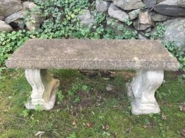 Rustic stone bench