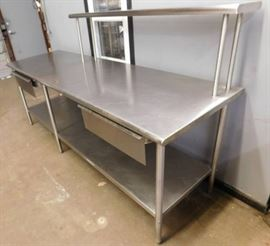 8 Foot Stainless Steel Table