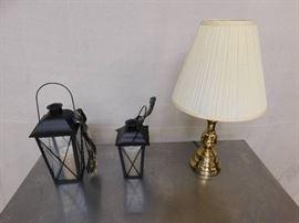 2 Decorative Lanterns and Electric Light