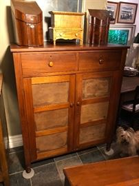 Walnut pie safe, circa 1840