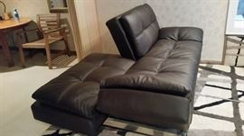 Convertible Futon Sofa Bed,Brown Leather