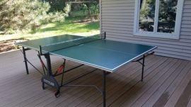 """Outdoor Table Tennis, KETTLER, Montageanleitung Tischtennistisch """"NORDKAP"""""""
