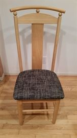 7 Chairs (Stools),	Wood, Fabric