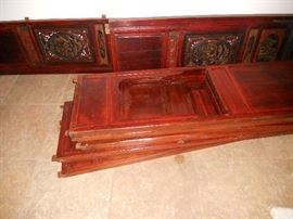 Sides for oriental Wedding Bed