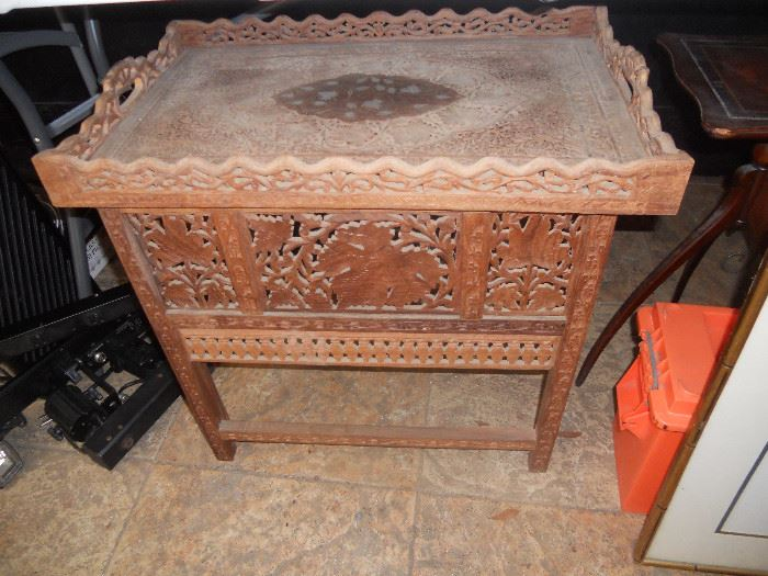 Folding oriental Carved Table