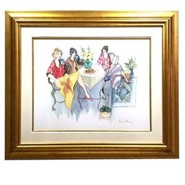 "Itzchak Tarkay Signed Serigraph ""Blissful Moments"""