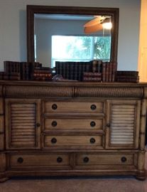 Cindy Crawford Key West Tobacco Panel Chest of Drawers or Dresser....