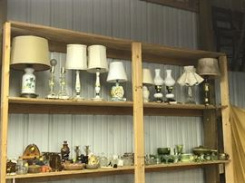 Wide selection of lamps thru out  the sale.