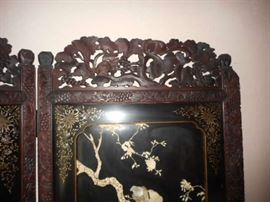 carvings and inlay