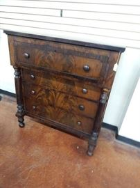 1839 American Empire Period Signed Chest