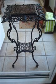 Ornate cast iron Victorian lamp stand