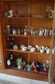 glass and china collectibles.