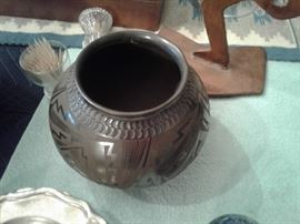 Handmade Native American pottery from New Mexico