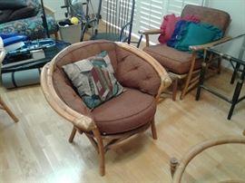 1960 Bamboo tiki set original pillows