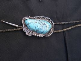 Bolo tie natural stone 41/2 inches long