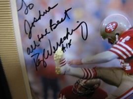 Ray Werschig signed official NFL framed picture