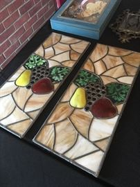 Leaded glass panels.