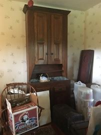 Massive country cupboard from Pennsylvania.