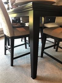 Square counter-height table and side chairs