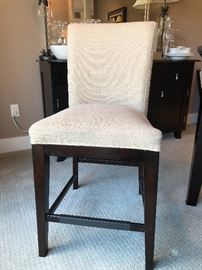 Side chairs to counter-height square table