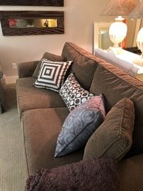 Crate & Barrel couch - and ocassional pillows