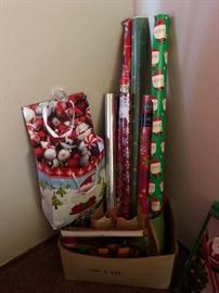 Christmas Wrapping and Decorations....yikes, already just a couple of months away!