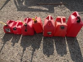 Various gas containers