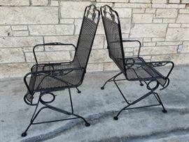 Iron rocking arm chairs