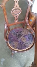 ANTIQUE CHAIR WITH DETAIL