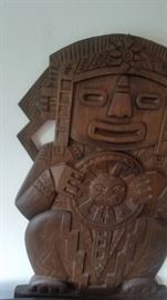 WOOD CARVING by Luis potosi is signed and marked