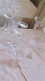 Chrystal set OF GLASSWARE
