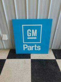 GM Parts sign
