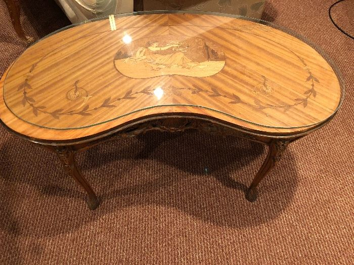 French enlayed Coffee Table