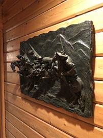 Bronze wall plaque