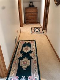rugs oak secretary desk